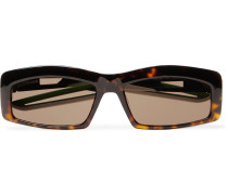 Rectangle-Frame Tortoiseshell Acetate Sunglasses