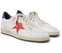 Ballstar Distressed Leather Sneakers