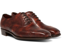 Nakagawa Burnished-leather Oxford Brogues