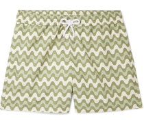 Copacabana Slim-Fit Short-Length Printed Swim Shorts