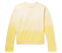 Tie-dyed Fleece-back Cotton-jersey Sweatshirt - Yellow