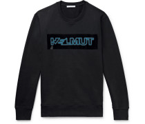 Pigeon Logo-print Loopback Cotton-jersey Sweatshirt - Black