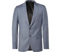 Blue Soho Slim-fit Wool-sharkskin Suit Jacket - Blue