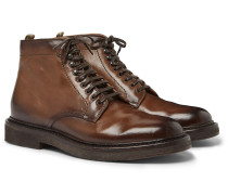 Stanford Burnished-Leather Boot