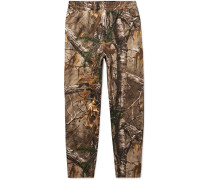 + Realtree Tapered Camouflage-print Fleece-back Cotton-blend Jersey Sweatpants - Brown