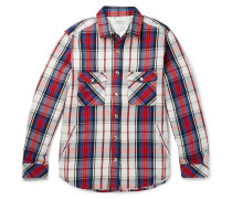 Thinsulate Checked Cotton Overshirt - Red
