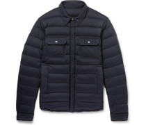 Caph Slim-fit Quilted Shell Down Jacket - Navy