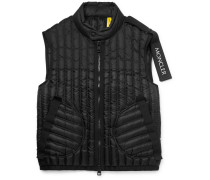 5 Moncler Craig Green Grosgrain-trimmed Quilted Shell Down Gilet - Black