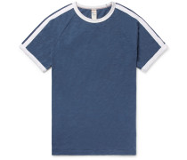 Striped Slub Cotton-jersey T-shirt