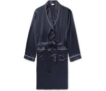 Piped Silk-satin Robe