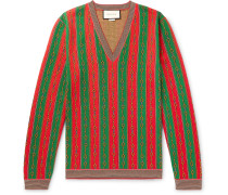Cotton, Wool and Cashmere-Blend Jacquard Sweater