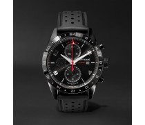 TimeWalker Automatic Chronograph UTC 43mm Stainless Steel and Rubber Watch, Ref. No. 116101