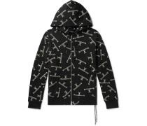 Logo-Print Cotton-Jersey Zip-Up Hoodie