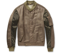Panelled Bomber Jacket With Detachable Quilted Lining