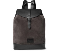 Suede And Full-grain Leather Backpack