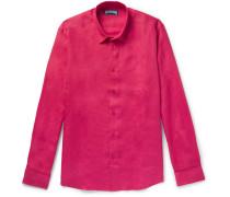 Caroubis Linen Shirt - Pink