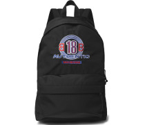 Explorer Logo-embroidered Canvas Backpack - Black
