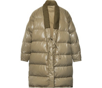 Yukata Oversized Wool-trimmed Quilted Nylon Down Coat - Sage green