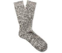 Dweller Ribbed Cotton-blend Socks