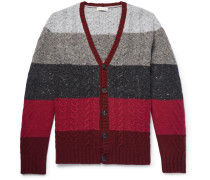 Striped Wool And Cashmere-blend Cardigan