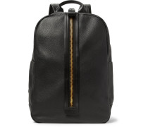 Full-grain Leather Backpack - Black