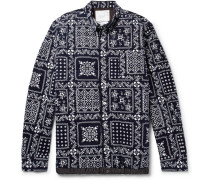 Quilted Printed Cotton-corduroy Shirt