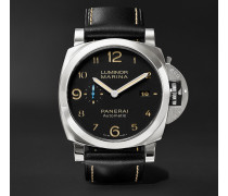 Luminor Marina 1950 3 Days Acciaio 44mm Stainless Steel And Leather Watch