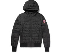 Cabri Quilted Shell Hooded Down Jacket - Black