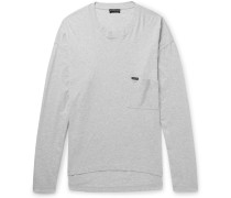 Oversized Mélange Cotton-jersey T-shirt