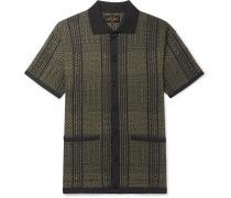 Cotton-Blend Jacquard Polo Shirt
