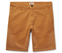 Crown Slim-fit Garment-dyed Stretch-cotton Twill Shorts