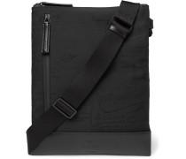 Salou Leather-Trimmed Printed Nylon Messenger Bag