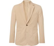 Beige Soho Slim-fit Cotton Suit Jacket - Beige