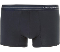 Stretch-cotton Boxer Briefs - Navy