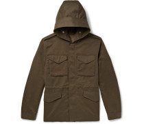 Weather-resistant Hooded Field Jacket - Army green