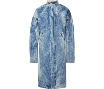 Faux Shearling-lined Selvedge Denim Coat