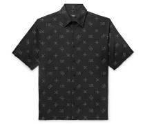 Logo-print Lyocell Shirt - Black
