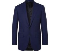 Navy Slim-Fit Wool Suit Jacket
