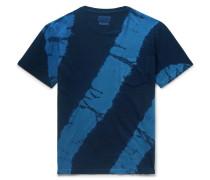Tie-dyed Cotton-jersey T-shirt - Indigo