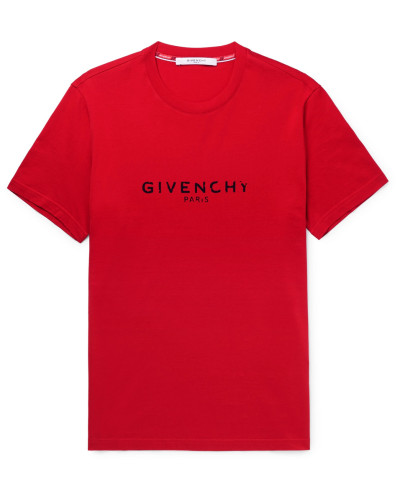 Logo-print Cotton-jersey T-shirt - Red