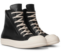 Cap-Toe Leather High-Top Sneakers
