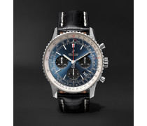Navitimer 1 B01 Chronometer 43mm Stainless Steel and Alligator Watch, Ref. No. AB0121211C1P1