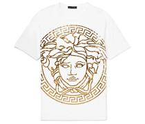 Metallic Printed Cotton-jersey T-shirt - White
