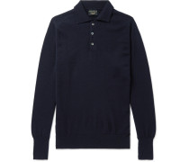 Cashmere Polo Shirt - Navy