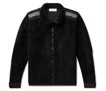 Shell-trimmed Fleece Jacket - Black