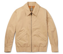 Reversible Checked Cotton-gabardine Blouson Jacket
