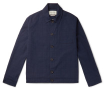 Buckland Slim-Fit Checked Cotton-Blend Jacket