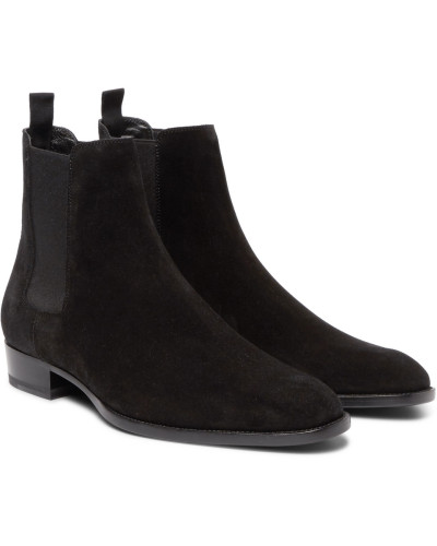 Suede Chelsea Boots - Black