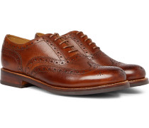 Stanley Cross-grain Leather Wingtip Brogues - Tan