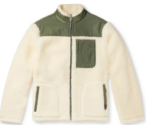 Shell-Panelled Fleece Jacket